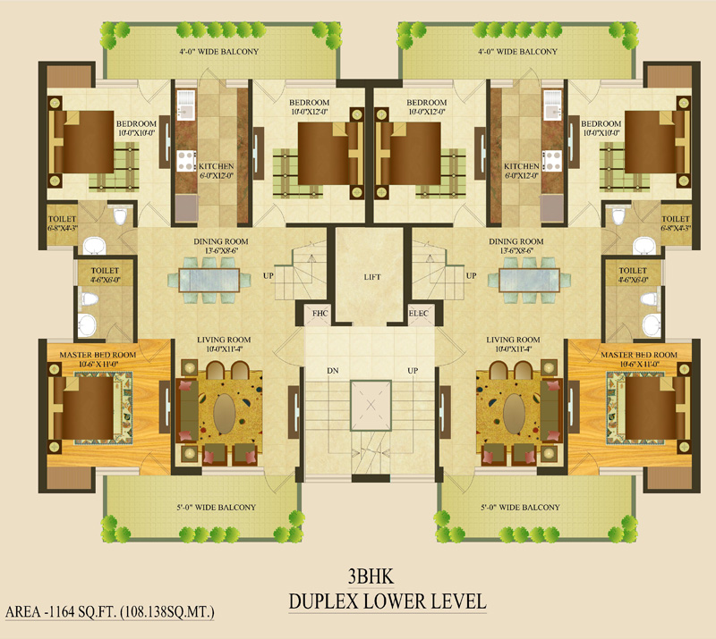 Properties 5 bhk duplex floor plan