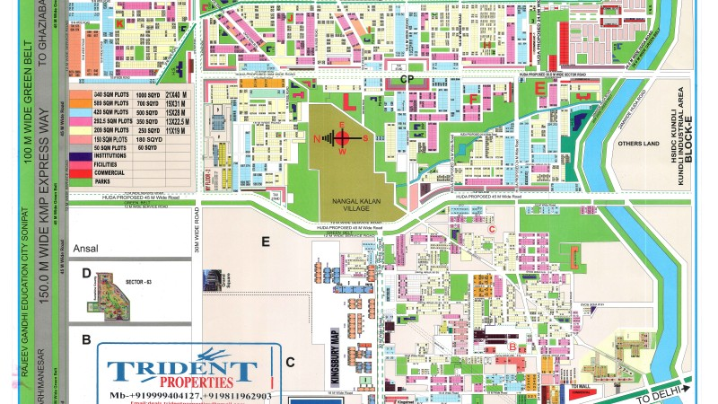 TDI CITY PLOT MAP NEW TRIDENT